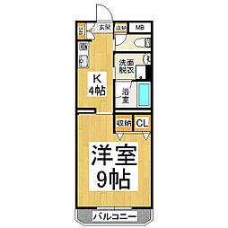 サン・シルク21[1階]の間取り