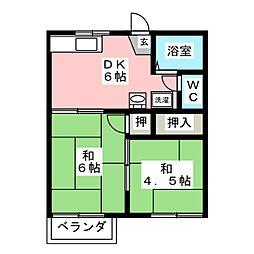 フォーブルK[2階]の間取り