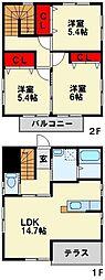 [一戸建] 福岡県北九州市八幡西区上上津役1丁目 の賃貸【/】の間取り