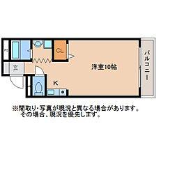 静岡県静岡市葵区安西の賃貸マンションの間取り