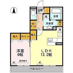 D-room南江戸(仮)[102 号室号室]の間取り