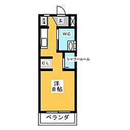 第2柴山ハイツ[2階]の間取り