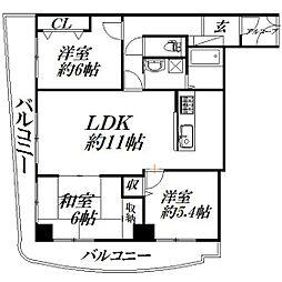 静岡県浜松市西区神ケ谷町の賃貸マンションの間取り