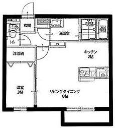 プロシード[203号室号室]の間取り