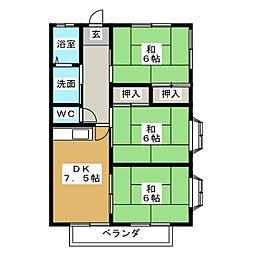 コーポ戸枝I[1階]の間取り