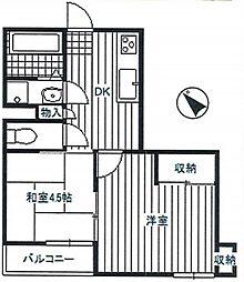 ファミーラシオン[2階]の間取り