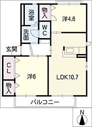 ビブレ東野[2階]の間取り