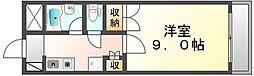 香川県高松市浜ノ町の賃貸マンションの間取り