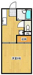 マンハイム[1-H号室]の間取り