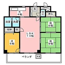 グランディー千代田[2階]の間取り