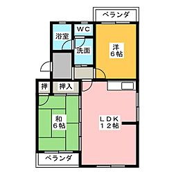 マンションフロイデ[3階]の間取り