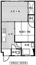 水間ビル(2DK)[202、303号室]の間取り
