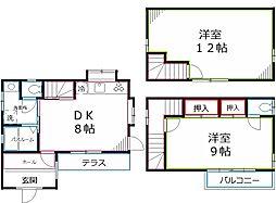 [一戸建] 東京都小金井市東町4丁目 の賃貸【/】の間取り