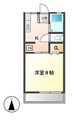 栃木県宇都宮市宝木本町の賃貸アパートの間取り