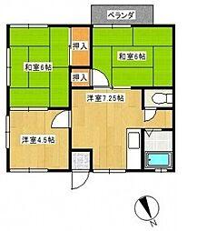 神奈川県横浜市戸塚区汲沢4丁目の賃貸アパートの間取り