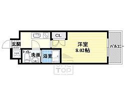 サムティ都島北通 4階1Kの間取り