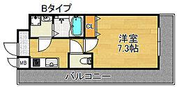 TOYOTOMI STAY PREMIUM 天王寺公園III 4階1Kの間取り