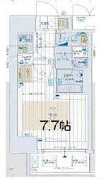 大阪府大阪市中央区南新町2の賃貸マンションの間取り