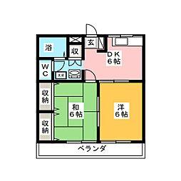 ハイデンスカトー[2階]の間取り