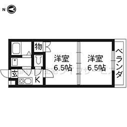 メゾンドISSEY東寺[302号室]の間取り