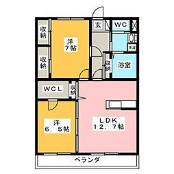 WILL GRACE[1階]の間取り