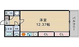 大阪府大阪市西区靱本町2丁目の賃貸マンションの間取り