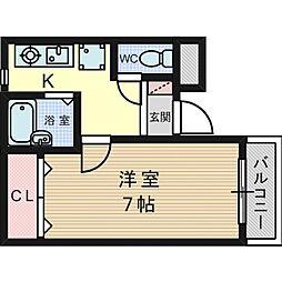 カリーノ長島[0201号室]の間取り