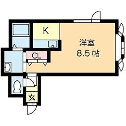 北海道札幌市北区あいの里一条4丁目の賃貸アパートの間取り