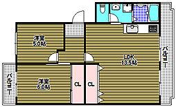 エステートスリー[2階]の間取り