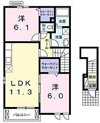 コルソYK[2階]の間取り