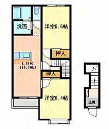 サンヴィレッジ II[2階]の間取り