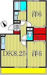 ラフォーレ上ノ台B[1階]の間取り