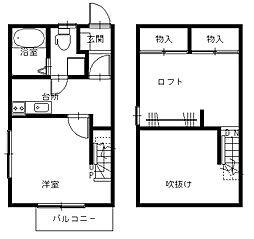 長崎県長崎市西小島1丁目の賃貸アパートの間取り