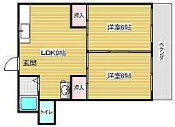 メゾンドリー[3階]の間取り