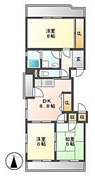 メゾンオサダ[2階]の間取り