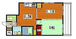 広島県広島市南区翠3丁目の賃貸マンションの間取り
