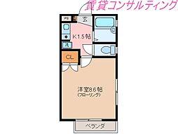 ハイブリッジ桜木[2階]の間取り