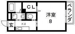 プラサート小阪[201号室号室]の間取り