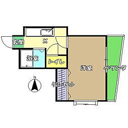 高知県高知市新田町の賃貸アパートの間取り