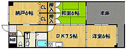 兵庫県明石市藤江の賃貸マンションの間取り