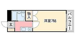 兵庫県姫路市広畑区東新町3丁目の賃貸マンションの間取り