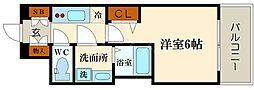 LC難波リオ[6階]の間取り