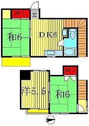 [テラスハウス] 千葉県松戸市松戸新田 の賃貸【/】の間取り