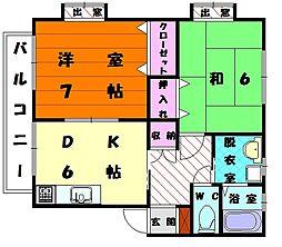 メゾン弐番館[2階]の間取り