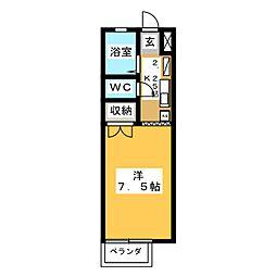 サンハイツ1[2階]の間取り