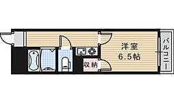 グロー駒川中野[510号室]の間取り