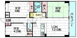 ベルビューレ江坂2番館[5階]の間取り