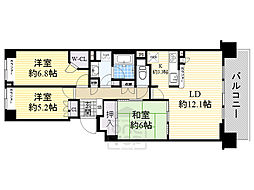 北大阪急行電鉄 桃山台駅 徒歩9分の賃貸マンション 4階3LDKの間取り