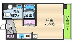 OrientCity・M 7階ワンルームの間取り
