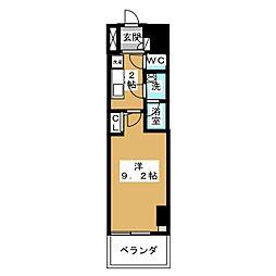 エルスタンザ徳川[4階]の間取り